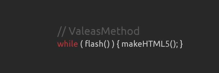 Flash je mrtev, ať žije flash #firefox